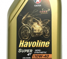 dầu nhớt caltex havoline super 4T semi-synthetic 10W40